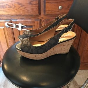 Authentic Coach wedge new